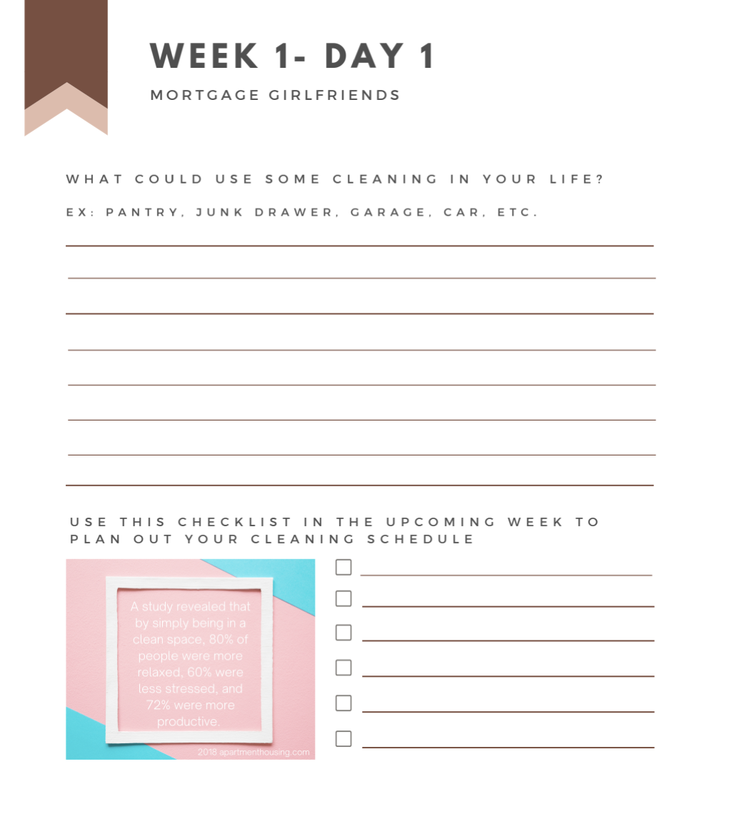 Image of one of the Workbook pages which includes writing exercises